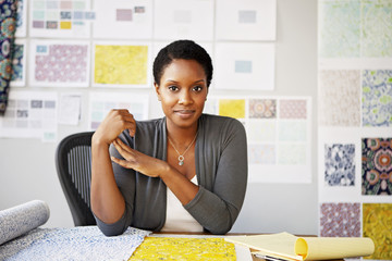 Portrait of businesswoman sitting in office
