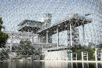 Close-up of Montreal biosphere