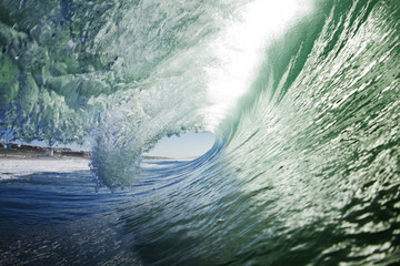 Close-up of large breaking wave