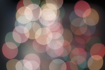 Colorful bokeh of soft light abstract background