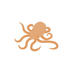 Octopus icon, isometric 3d style