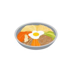Korean food icon, isometric 3d style