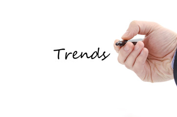 Trends text concept