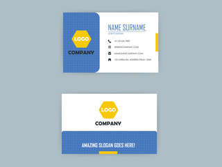 beautiful graphic design of light blue color business card