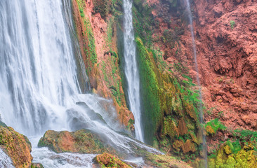 Beautiful waterfall in Ouzoud, Azilal, Morocco. Grand Atlas