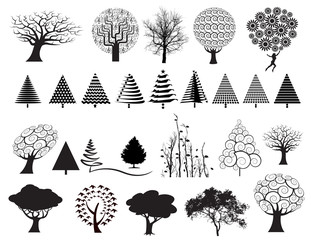 Choice of 26 trees in a variety of styles