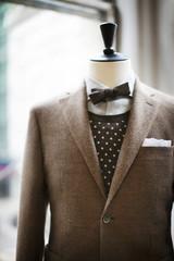 Brown jacket on mannequin