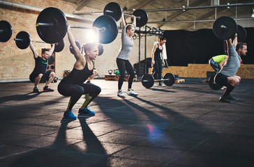 Weightlifting for greater strength Wall mural