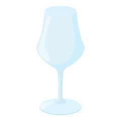Wine glass icon in cartoon style