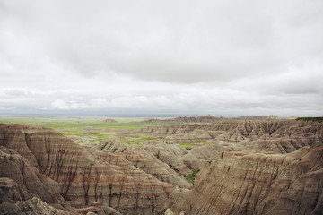 Scenic view of canyon