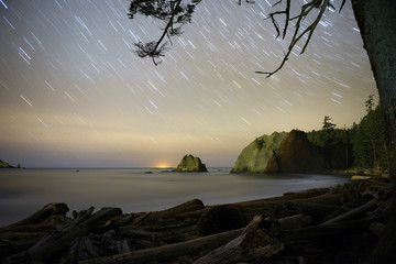Rialto Beach at night