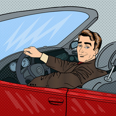 Successful Businessman in Luxury Car