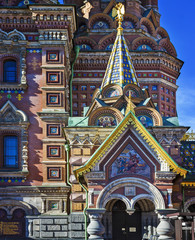 Church of the Savior on Spilled Blood in Saint Petersburg. Russia