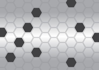 Abstract polygon with background