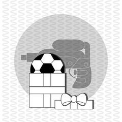 Toy design. Childhood icon. Flat illustration, vector graphic