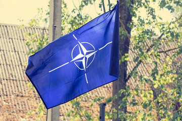 The flag of the  NATO