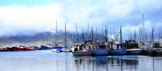 Fishing harbour in Cape Town