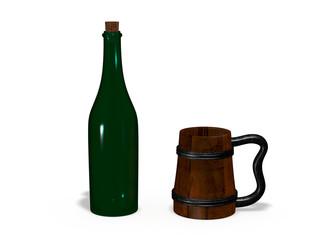 bottle with mug