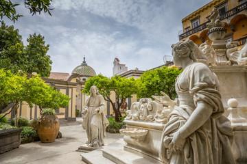 Foto auf AluDibond Neapel Chiesa di San Gregorio Armeno à Naples