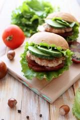 Delicious hamburger homemade