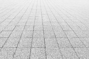Path of cobblestones. Retro background. Black and white.