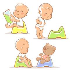 Baby on potty.
