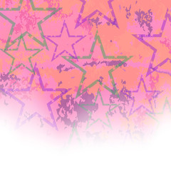 Starry Grunge Background for Independence Day of America