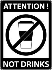 No drink sign. Vector illustration. Flat design.