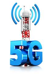 5G wireless communication technology concept