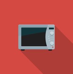 Microwave. Color vector icon