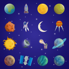 Space Universe Icon Set
