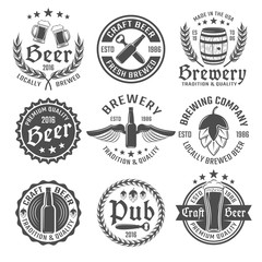 Beer Emblem Set
