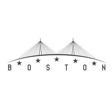 The Leonard P. Zakim Bunker Hill Memorial Bridge, Boston Massach