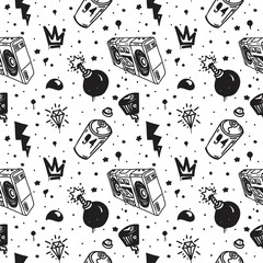 Graffiti seamless pattern