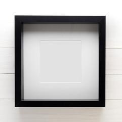 Thick border Photo frame. Black Blank photo frame to your photo.