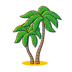 Two palm trees icon.