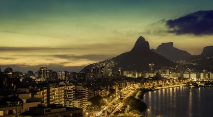 Rio De Janeiro at dusk, Brazil