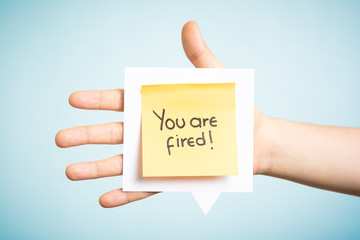 Five reasons to say: you are fired.