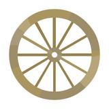 Cart Wheel Icon Black Singe Western Icon From The Wild West Black