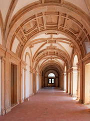 The Convent of the Order of Christ interior in Tomar, Portugal