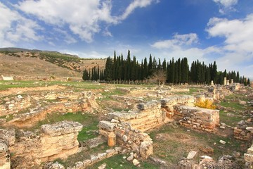 The ancient town Hierapolis, Turkey