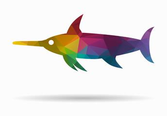 swordfish poly icon