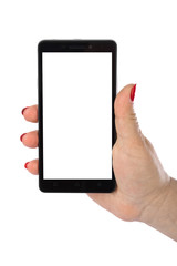 Hand with smartphone