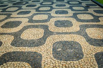 Background Sidewalk Ipanema in Rio de Janeiro..