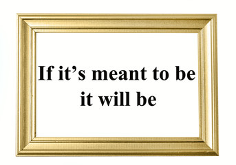 If it's meant to be it will be text