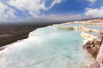The beautiful pools in Pamukkale ,Turkey