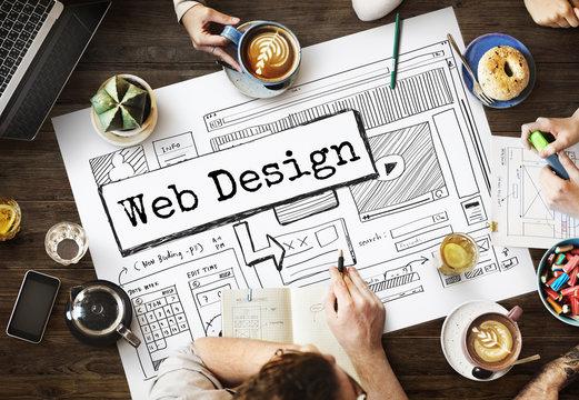 Design Website Create Template Layout Concept