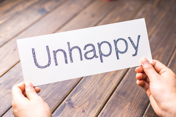 unhappy to happy on paper with table
