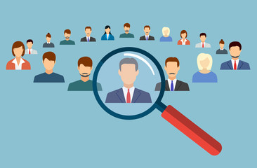 Human resources management select employee