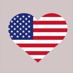 Wall Mural - USA flag